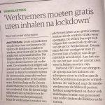 Moeten werknemers gratis uren inhalen na lockdown?